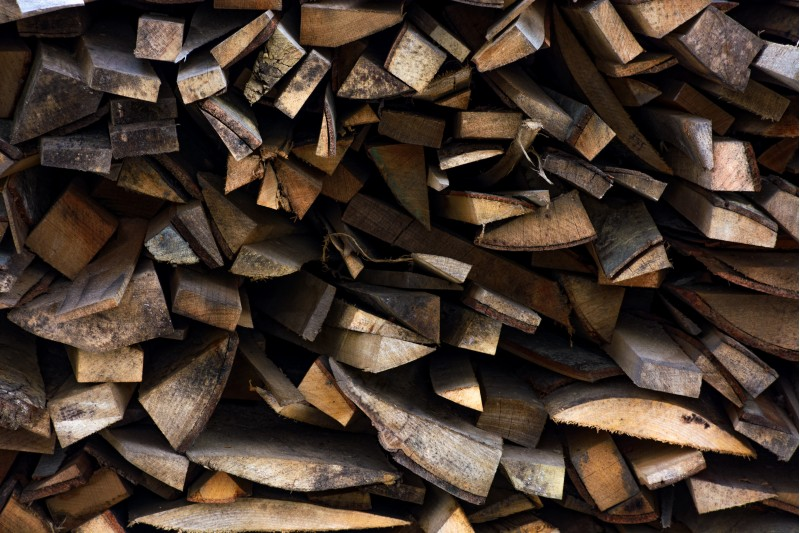 chopped firewood background