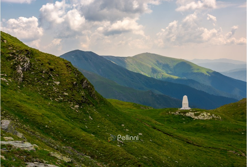 lovely scenery in fagaras mountains. beautiful nature of Romania. hillsides of the ridge rolling in to the distance
