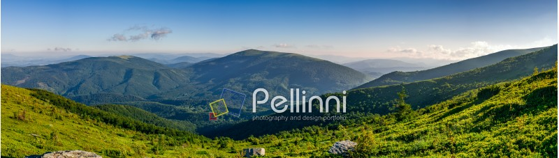 panorama of mountain. beautiful summer background on fine weather day