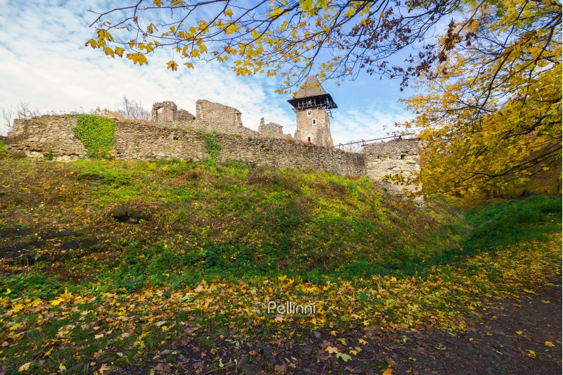 stone walls of medieval fortress. Nevytsky castle is one of the most popular tourist attraction of TransCarpathia