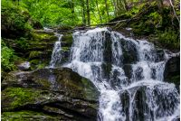 Great waterfall Shypit in Carpathian mountains. beautiful and fresh summer nature scenery