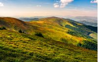 beautiful late summer landscape in mountains. fine weather with blue sky and some clouds. gorgeous travel background