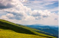 beautiful summer landscape in mountains. fine weather with blue sky and some clouds. gorgeous travel background